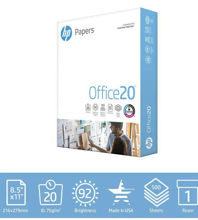HP Printer Paper Home Office Copy Print Letter Office20 500 Sheets Pre Order
