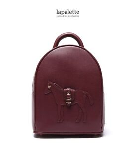 Lapalette TAYLOR MINI BACKPACK Leather Bag woman Horse Korea High Quality wine
