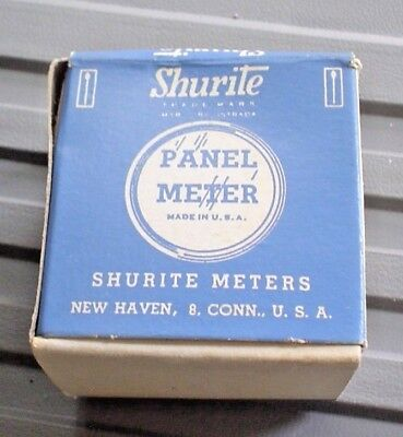 Shurite Panel Meter Vintage In Box With Instructions 4123