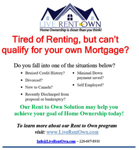 Can't Qualify for a Mortgage? Rent to Own instead