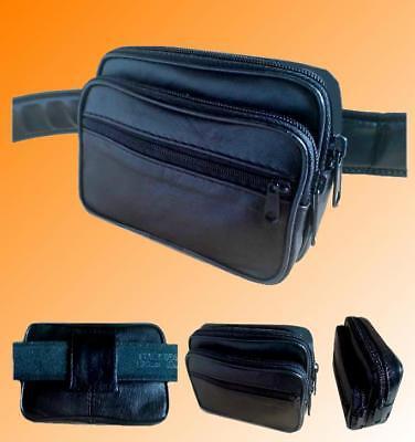 Leder Gürteltasche Bauchtasche Tasche klein Hüfttasche Schlüsseltasche Handy Bag ()