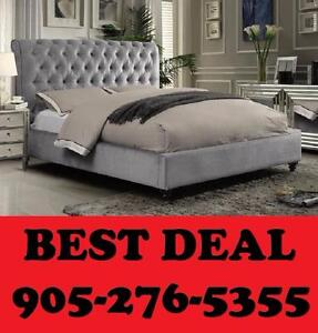 NEW YEARS SPECIAL QUEEN OR DOUBLE SIZE UPHOLSTERED BED ONLY $299.00
