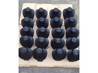 Job lot of 20 Black leatherette necklace display busts stands mannequins
