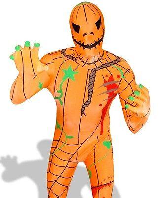Pumpkin Morphsuit Costume Morph Suit Body Sock Spandex Halloween Hero X Large
