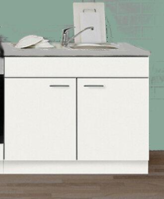 Spülenunterschrank Favorit 5 Weiß Mit Auflagespüle 100/60 Cm Küche Mehrzweck