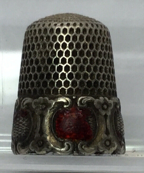 Antique Sterling Silver Thimble Size 10