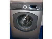 Silver hotpoint washing machine 9kg