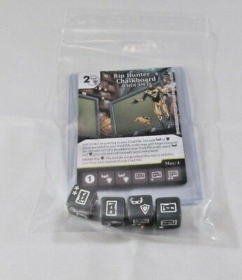 DC Dice Masters Green Arrow Flash RIP HUNTER'S CHALKBOARD Set RARE CUR + 4 DICE ](Cheap Chalkboards)