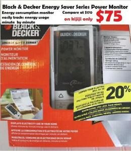 Black & Decker Energy Saver Series Power Monitor Energy consumption monitor easily tracks energy usage minute by minute