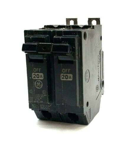 GE General Electric 20 Amp 2 Pole Circuit Breaker THQP2020