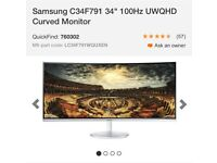 "Samsung C34F791 34"" Curved Monitor"