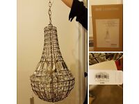 Chandelier. New. Light from bhs. Rrp £300. Looking for £60