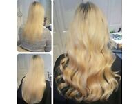 Micro ring and nano ring hair extensions Keratin treatment
