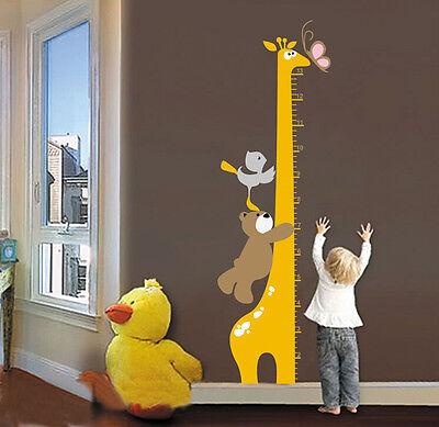 Removable Cartoon Giraffe Children Kid Growth Height Chart PVC Wall StickeHFUS - Giraffe Growth Chart