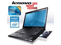 "Deliver if needed BIG 15.4"" Screen IBM Lenovo Laptop, Intel Core2Duo 4.4Ghz, 4Gb, Office, AntiVirus"