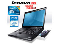 "Deliver if needed BIG 15.4"" Screen IBM Lenovo Laptop, Intel Core2Duo 4.4Ghz, 4Gb, Office, AntiVirus"