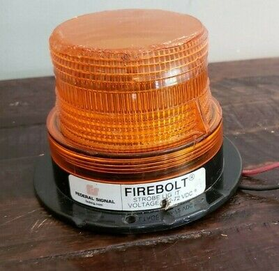 Federal Signal Firebolt Strobe Light 12-72 Vdc. Tested And Works