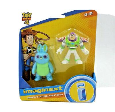 NEW! Fisher-Price Imaginext Toy Story 4 Bunny & Buzz Lightyear Figure Set Disney