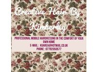 Mobile hairdresser and wedding hair specialist - creative hair by kimberley
