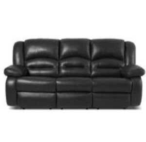 LEATHER RECLINING SOFA ( COUCH) and LOVE SEAT.