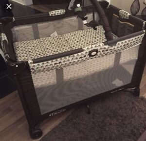 Graco pack and play with elephant print