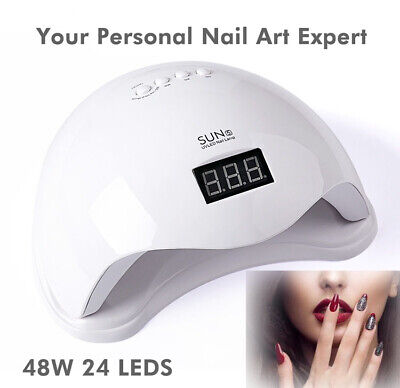 48W Gel Nail Polish Dryer 24 Beads Dual UV LED Source Nail Polish Dryer UV Lamp for sale  Shipping to Canada
