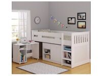Bunk bed + desk+storage in immaculate conditionion