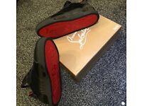 Christian Louboutin Aurelien Suede Red bottoms black size 9