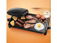 10 portion George Foreman Grill Griddle Nearly New Condition Non Stick Cooker Toastie Panini £30 ono