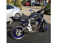 Yamaha MT07 Race Blue 689cc