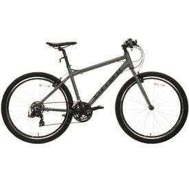 NEW Carrera Axle Men's Grey Hybrid Bike RRP £330