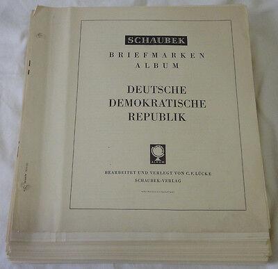 SCHAUBEK - VORDRUCKE DDR 1948-1975 mit DIENST ohne TASCHEN (11417N)