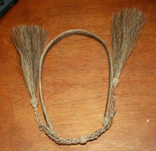 """MONTANA STATE PRISON 1/2"""" HORSE HAIR COWBOY HAT BAND FREE SHIPPING"""