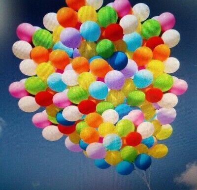 100 bunte Luftballon Ballon Dekoration Geburtstag Idee für Party Helium geeignet ()