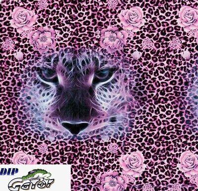 19x79 Water Transfer Print Film Pva Hydrographic Hydro Dip Pink Rose Leopard Us