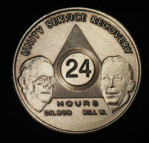 aa bill & bob bronze 24 hours welcome desire sobriety chip coin token medallion