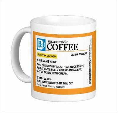 Customized Prescription Bottle Coffee Mug Tea