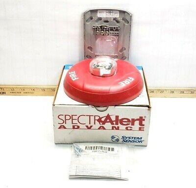 New Spectralert Fire Alarm Horn Strobe 1224 Vdc Model Pc2r