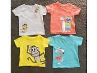 4 M&S Boys t-shirts 6-9 months
