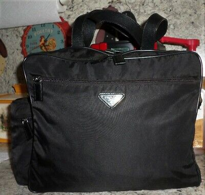 RARE Vintage 1995 Authentic Black Prada Messenger/Crossbody Nylon & Leather