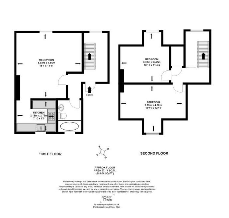 Split level 2 bed conversion - Brixton..... Hurry, Available NOW!