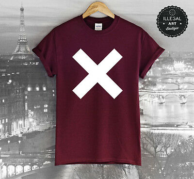 THE XX T SHIRT TOP RUM BAND CD COEXIST CROSS INDIE CROOKS AMSTERDAM BURGUNDY TEE