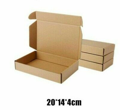 Paper Box Kraft Packaging Storage Recyclable Packing Shipping Material 10pcslot
