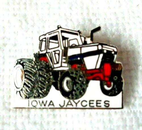 Vintage Iowa Jaycees Pin 1970s Tractor Enameled Lapel Hat Pin