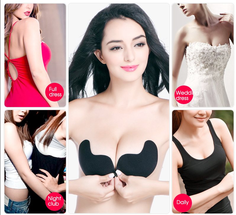 Silicone Self Adhesive Magic Push Up Strapless Invisible Bras Backless HOT