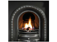 Cast iron fireplace with marble surround