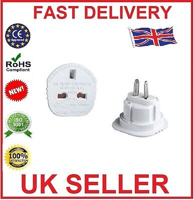 2X UK TO USA US AMERICA AUSTRALIA NEW ZEALAND TOURIST TRAVEL PLUG POWER ADAPTOR