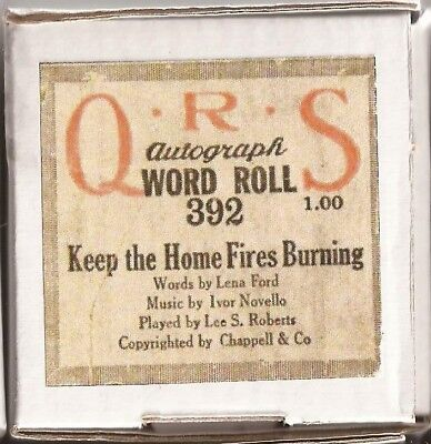 Pianola Rolls recuts x2 Keep the home Fires Burning....Every Boy to be a Soldier