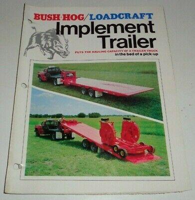 Bush Hog Loadcraft Imp-14t Implement Trailer Sales Brochure