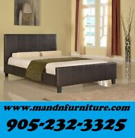NO TAX Faux Leather Bed Single Double or Queen $169.00